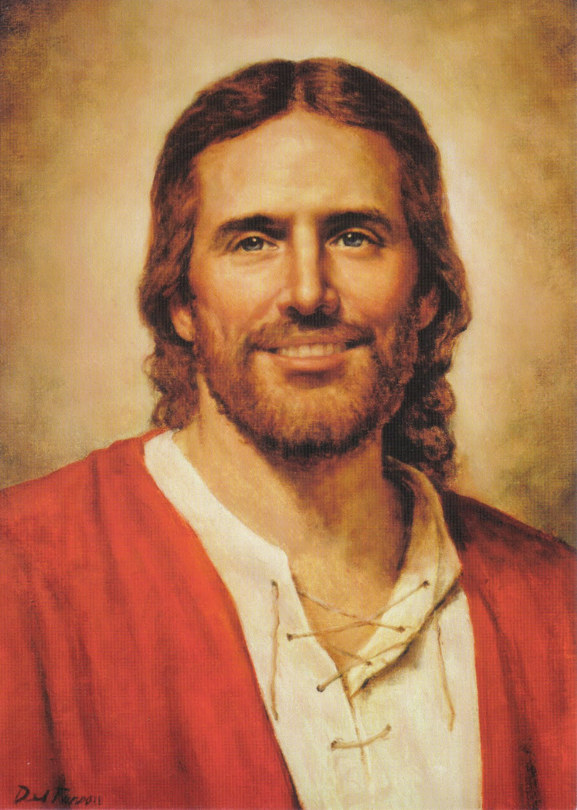 Beautiful-Jesus-Picture-Smiling-Portrait-Painting ... Pictures Of Jesus