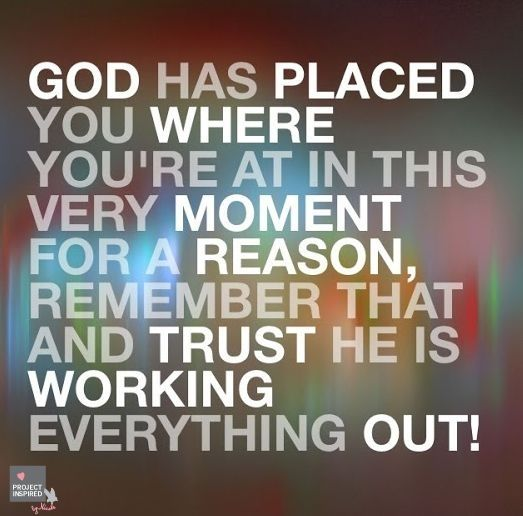 Trusting god when everything is going wrong