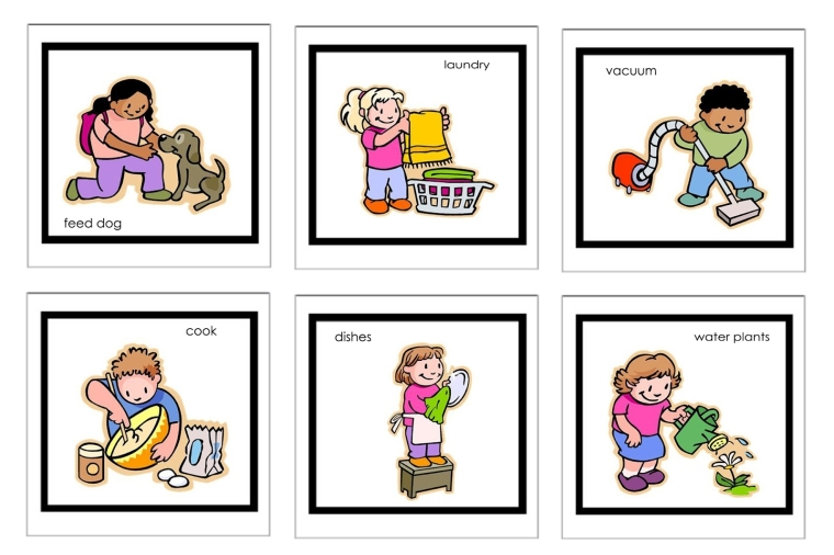 Children-doing-household-chores-clipart