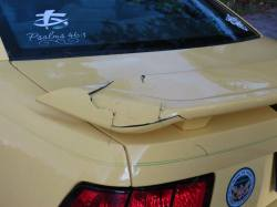 This is the only damage for the most part. I was expecting it to be much worse.